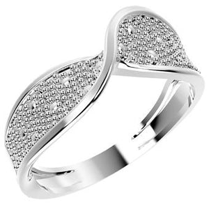 12854P  925 Silver Women's Ring