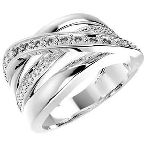 12859P CZ 925 Silver Women's Ring