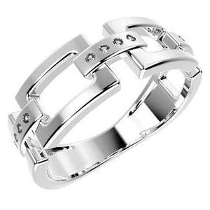 12866P CZ 925 Silver Women's Ring