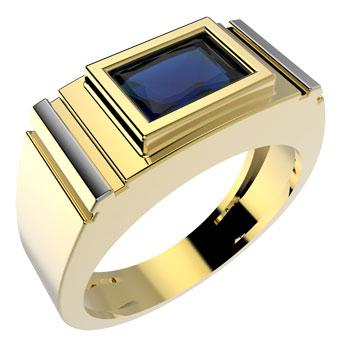12877 18K Gold Layered Men's Ring