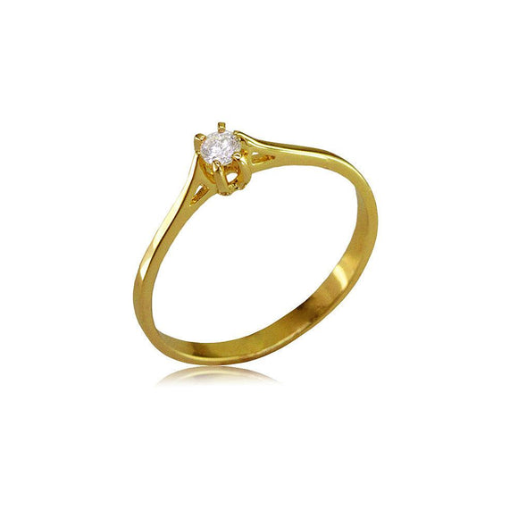12935 18K Gold Layered CZ Women's Ring