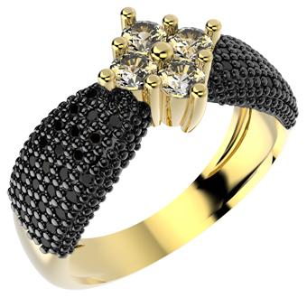 13081 18K Gold Layered CZ Ring