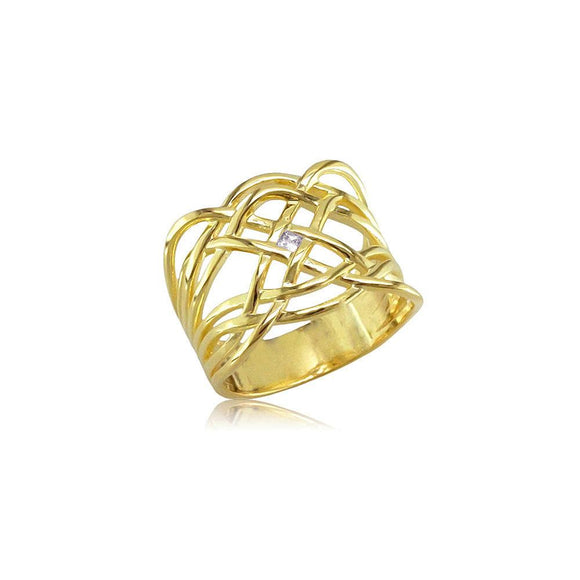13134 18K Gold Layered CZ Women's Ring