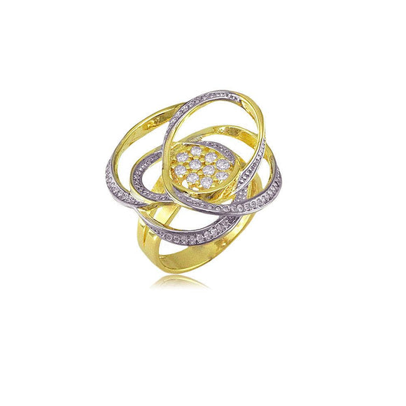 13202 18K Gold Layered CZ Women's Ring