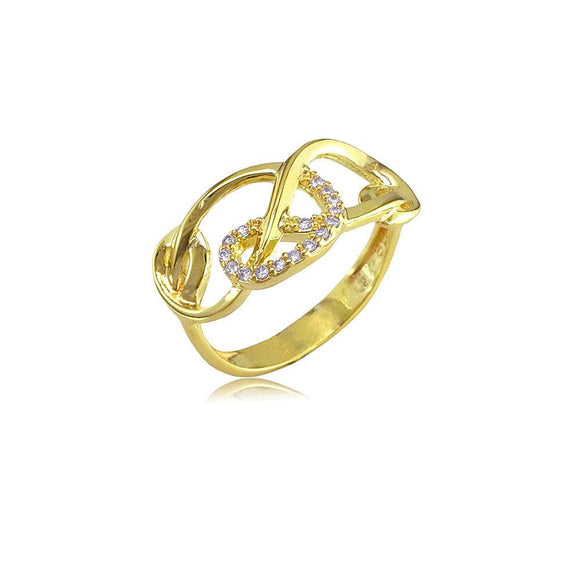 13206 18K Gold Layered CZ Women's Ring