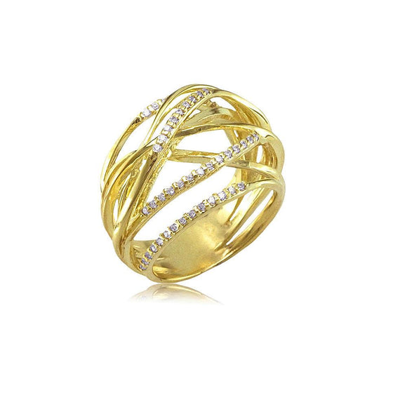 13207 18K Gold Layered CZ Women's Ring