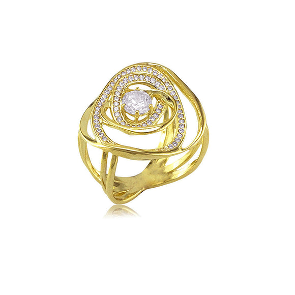 13209 18K Gold Layered CZ  Ring