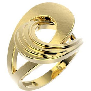 13218-ESC  18K Gold Layered Matte Ring