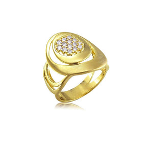 13223 18K Gold Layered CZ Women's Ring