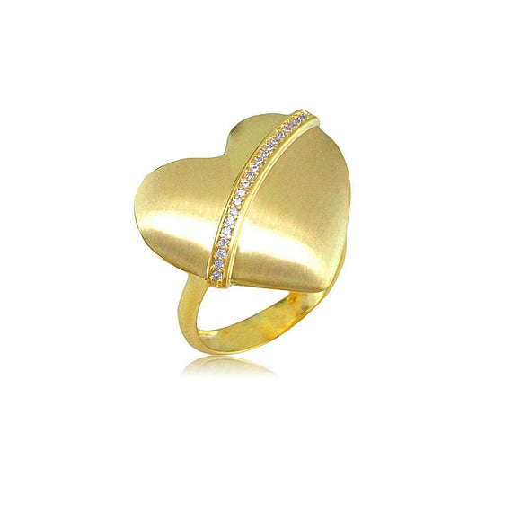 13232 18K Gold Layered CZ Women's Ring