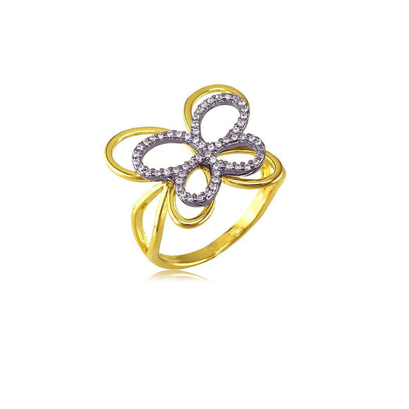 13277 18K Gold Layered CZ Women's Ring