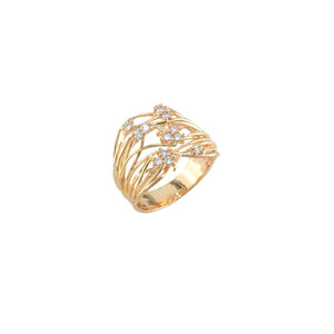 13299v 18K Gold Layered Women's Ring Rose Gold