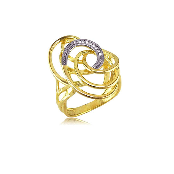 13304 18K Gold Layered CZ Women's Ring