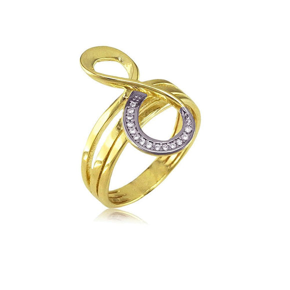 13312 18K Gold Layered CZ Women's Ring