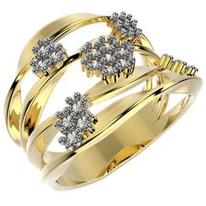 13363 18K Gold Layered CZ Ring