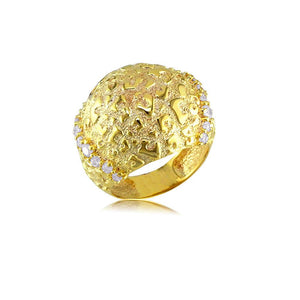 13728 18K Gold Layered CZ Women's Ring