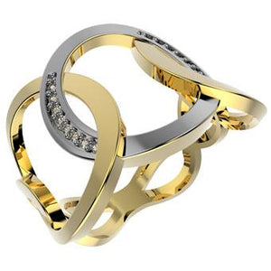 13799 18K Gold Layered CZ Ring