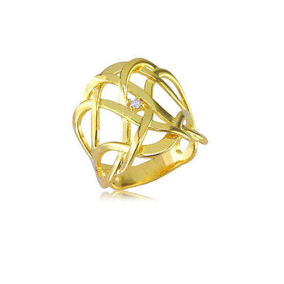 13815 18K Gold Layered CZ Women's Ring