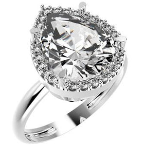 13817P - CZ 925 Sterling Silver Ring
