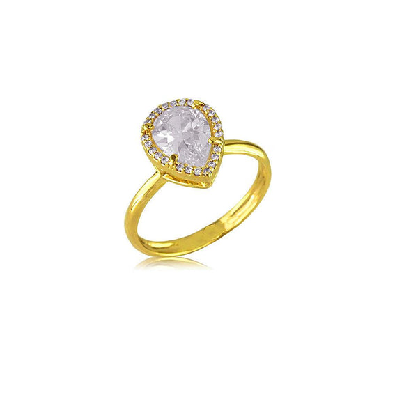 13817 18K Gold Layered CZ Women's Ring