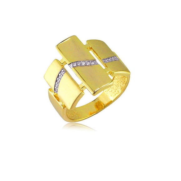 13823 18K Gold Layered CZ Women's Ring