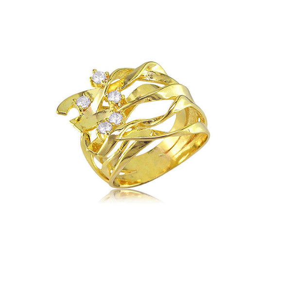13842 18K Gold Layered CZ Women's Ring