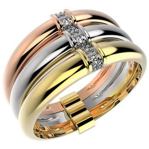 13872 18K Gold Layered CZ Ring
