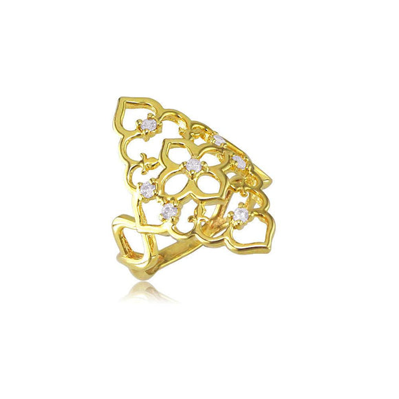 13897 18K Gold Layered CZ Women's Ring