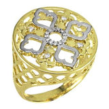 13898 18K Gold Layered CZ Women's Ring