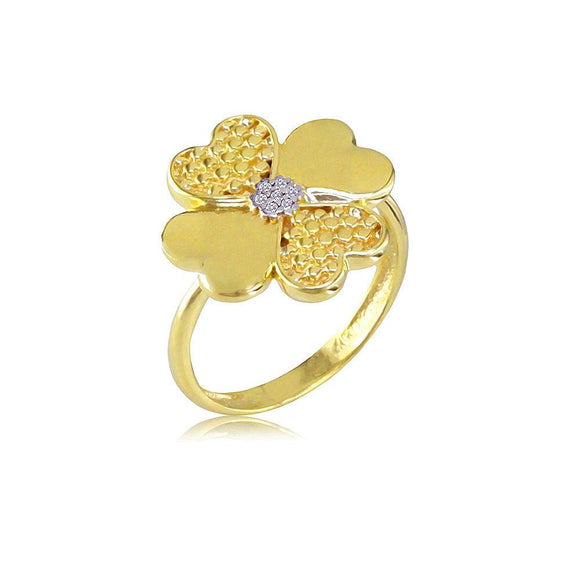 13998 18K Gold Layered CZ Women's Ring