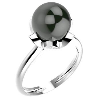 14004P Pearl 925 Silver Women's Ring