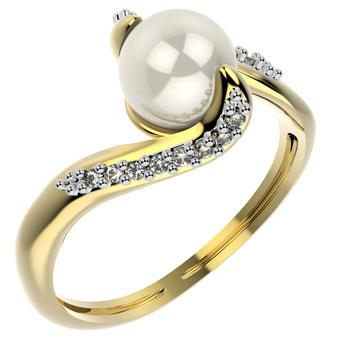 14083 18K Gold Layered CZ Women's Ring