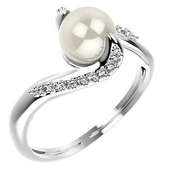 14083P CZ 925 Silver Women's Ring