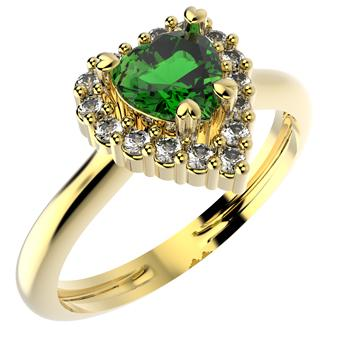 14200 18K Gold Layered CZ Ring