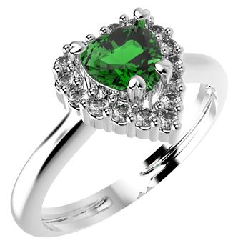14200P - CZ 925 Sterling Silver Ring