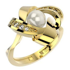 14203 18K Gold Layered Pearl Women's Ring