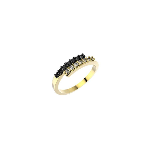14204 18K Gold Layered CZ Women's Ring