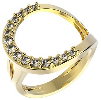 14208 18K Gold Layered Clear CZ Ring