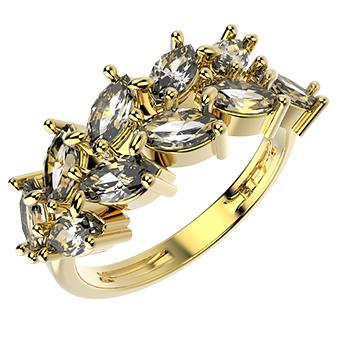 14244 18K Gold Layered CZ Ring