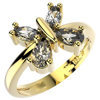14248 18K Gold Layered CZ Ring