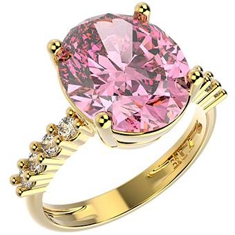 14253 18K Gold Layered CZ Ring