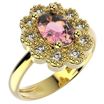 14257 18K Gold Layered CZ Ring
