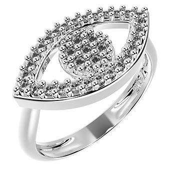 14271P CZ 925 Silver Women's Ring