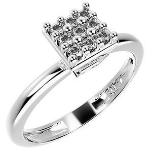 14275P CZ 925 Silver Women's Ring