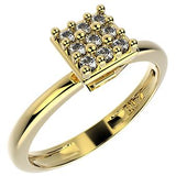 14275 18K Gold Layered CZ Ring