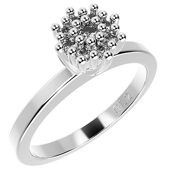 14276P CZ 925 Silver Women's Ring
