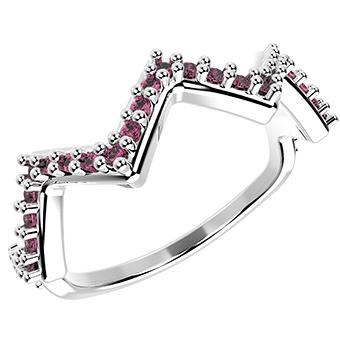14278P - CZ 925 Sterling Silver Ring