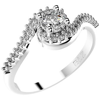 14301P CZ 925 Silver Women's Ring