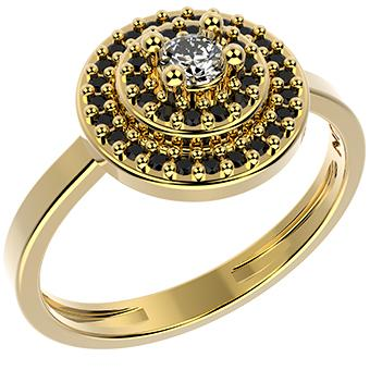 14303 18K Gold Layered CZ Ring
