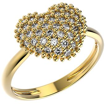 14308 18K Gold Layered CZ Ring